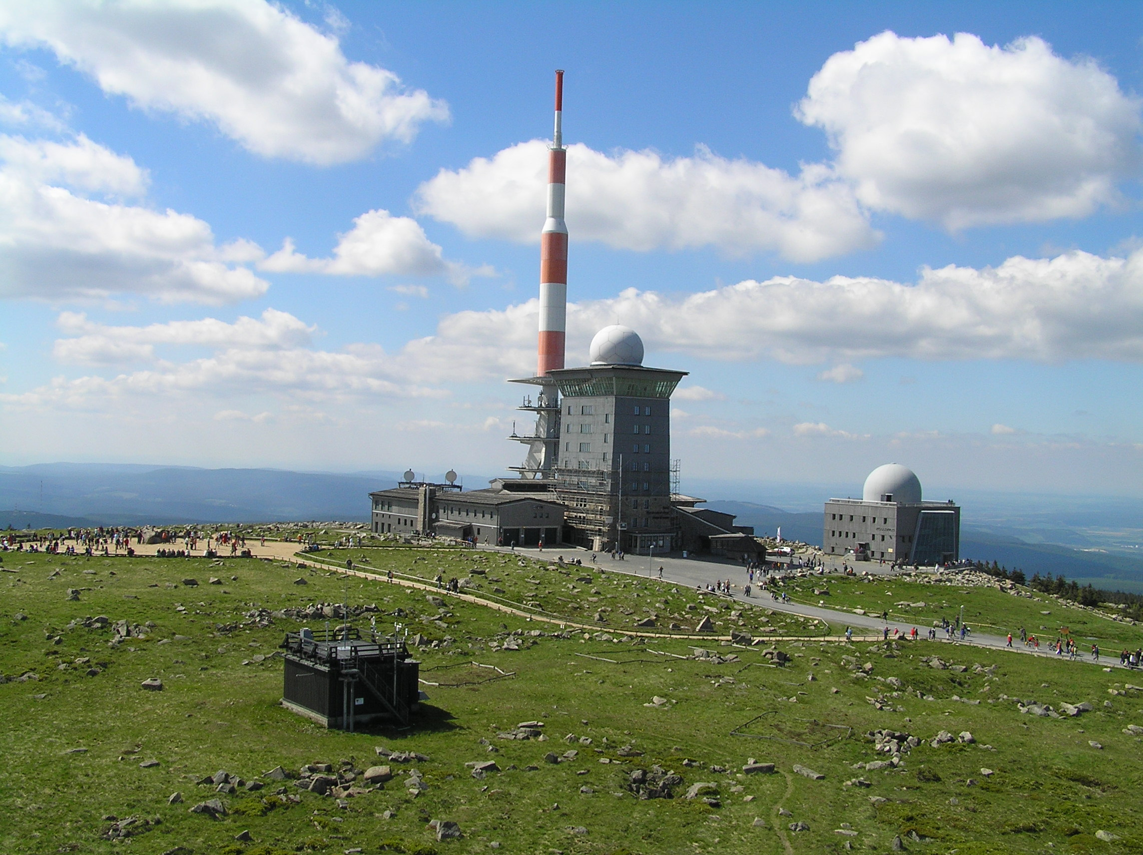 Die Messstation auf dem Brocken