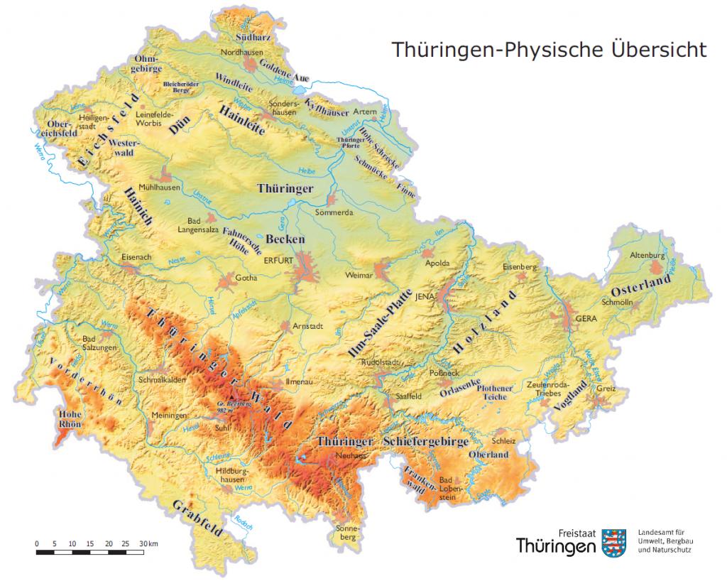 Thüringen_physisch